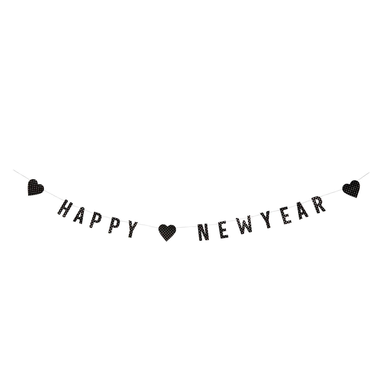 Madam Stoltz – Papiergirlande Happy New Year