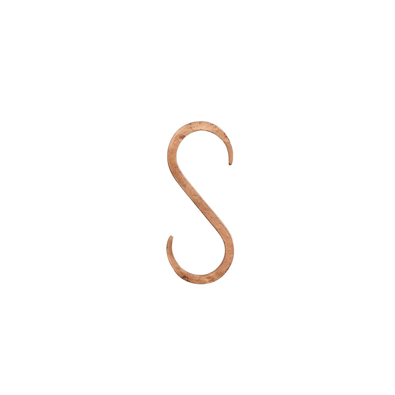 Madam Stoltz –HandmadeS-Haken – Kupfer Small