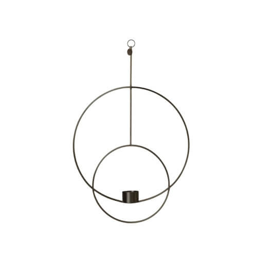 Ferm LIVING – Teelichthalter Circle – Messing Schwarz