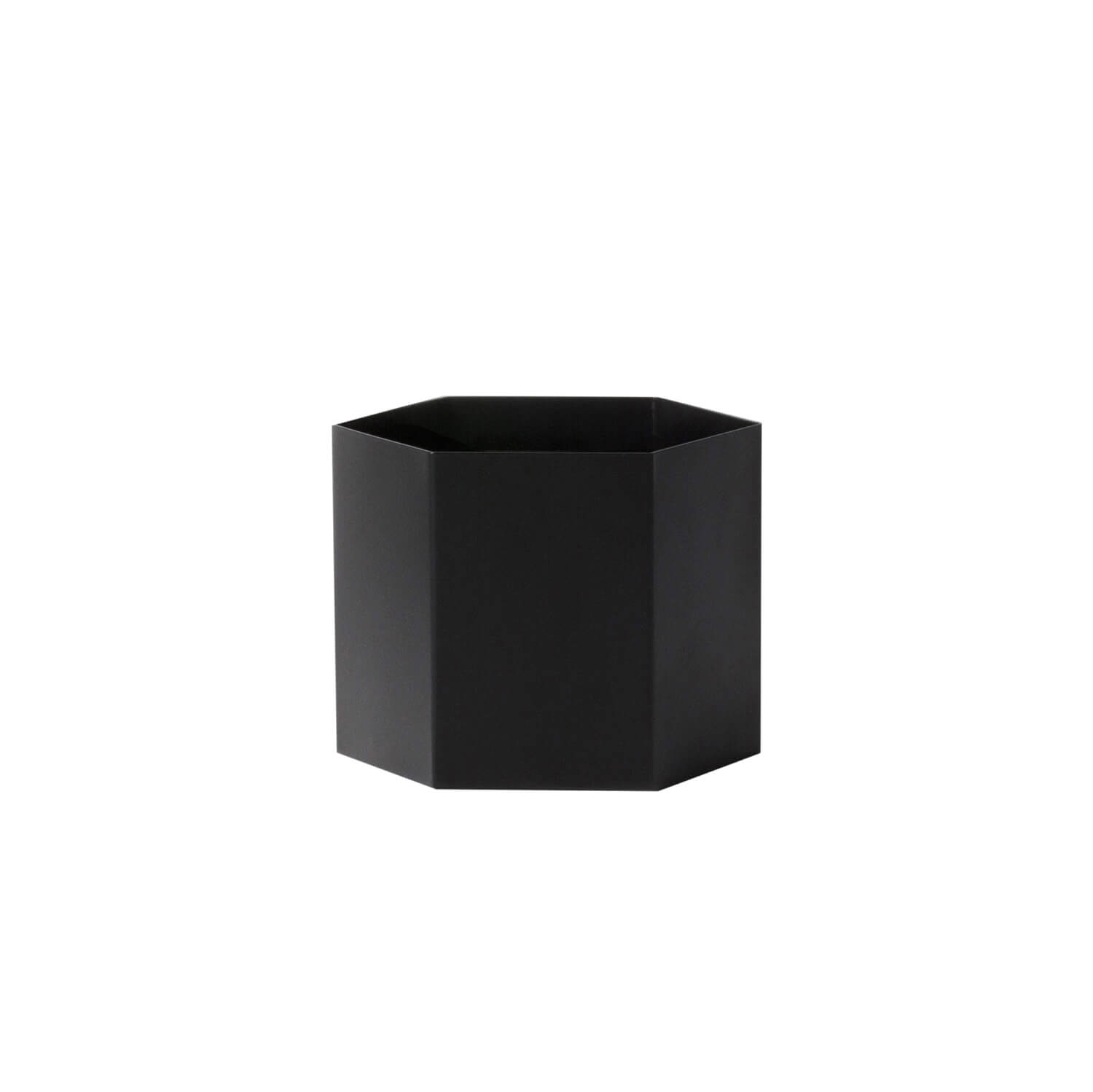 ferm living blumentopf hexagon schwarz xl ca 18 x h14 cm. Black Bedroom Furniture Sets. Home Design Ideas
