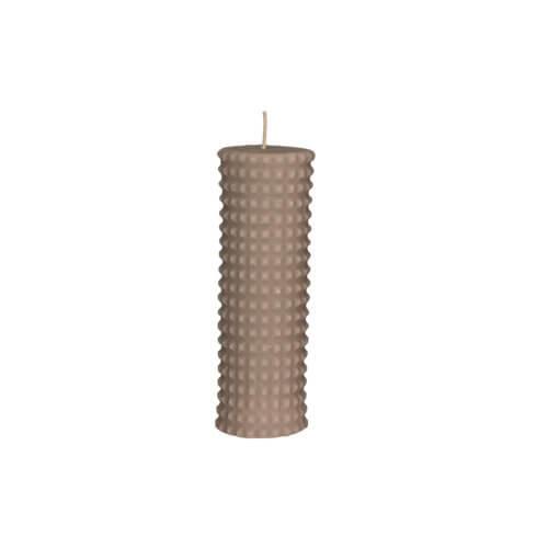 Broste Copenhagen – Stumpenkerze Linen – Rhomb NO 1
