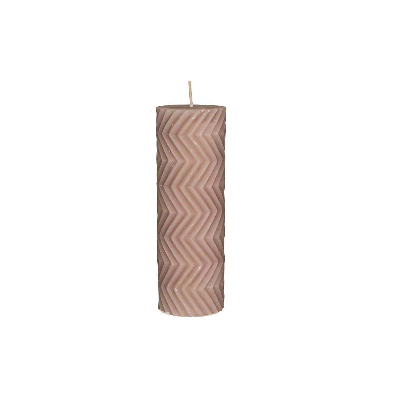 Broste Copenhagen – Stumpenkerze Linen – Rhomb NO 2