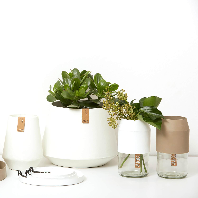 OOhh Kollektion – Blumentopf Tokio – Weiß