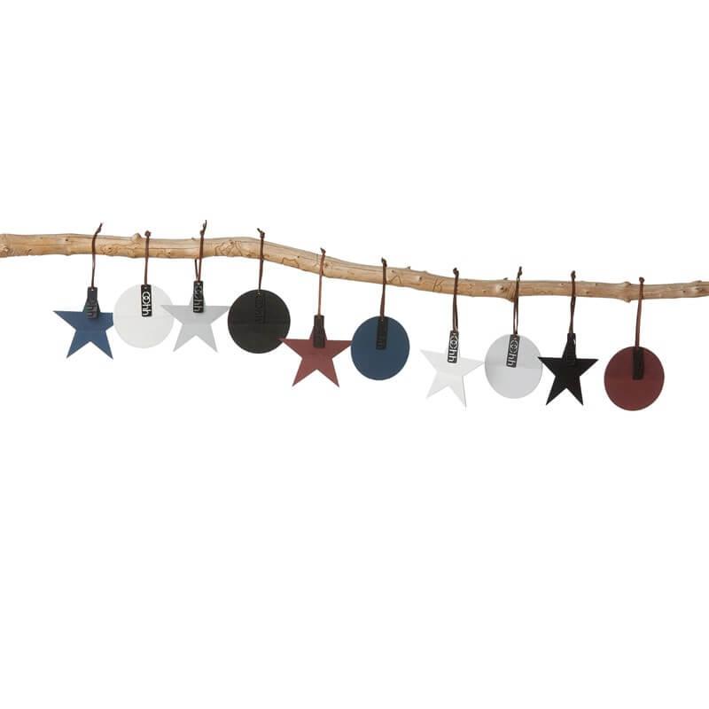 OOhh Kollektion – Weihnachtsstern mit Lederband