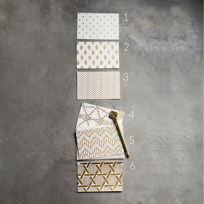 Tine K Home – Weihnachtskarten – Gold-Weiß