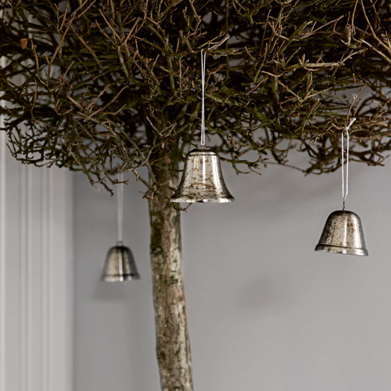 Tine K Home – 2er Set Weihnachtsglocken – Antik Silber