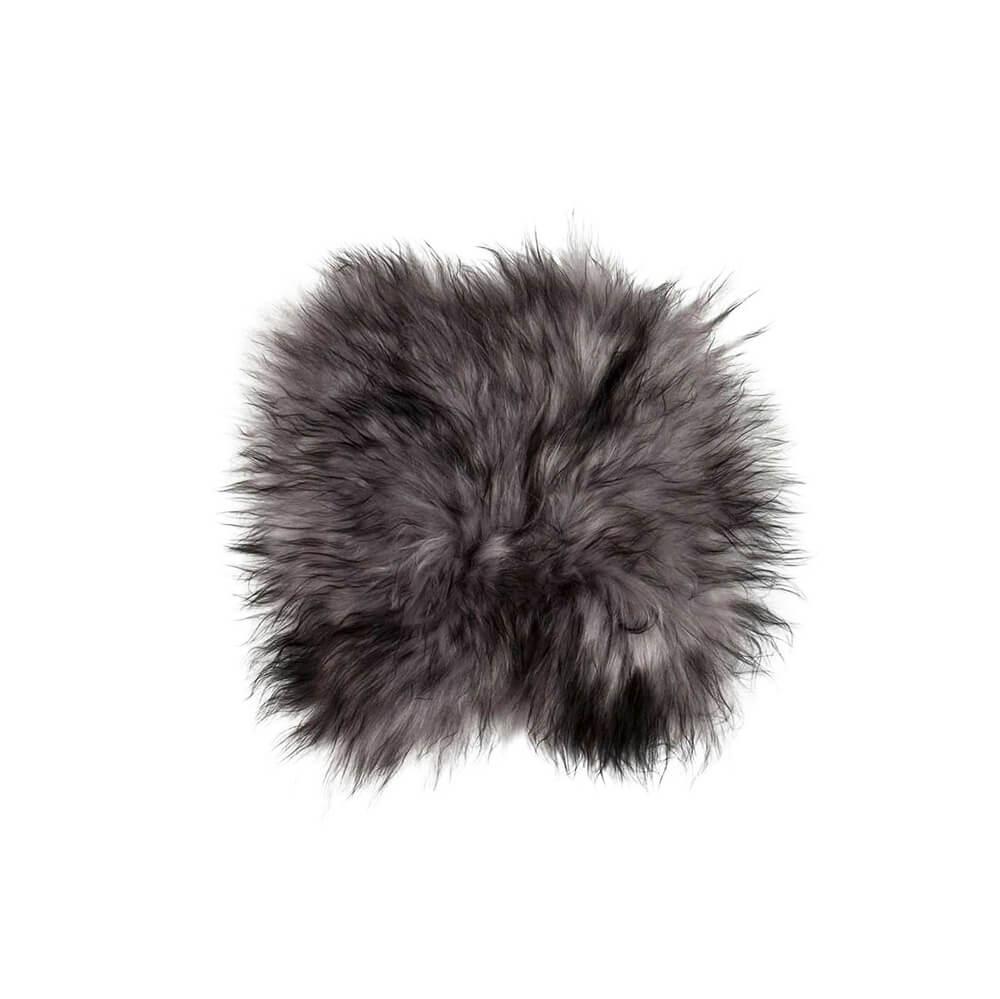 DYRESKINN – Sitzkissen Isländisches Schaffell – Grau Meliert
