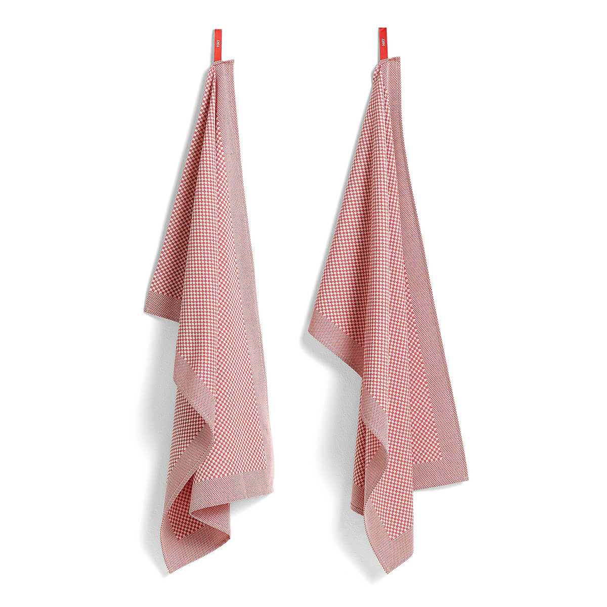 HAY – 2er Set GeschirrtuchCheck – Pink