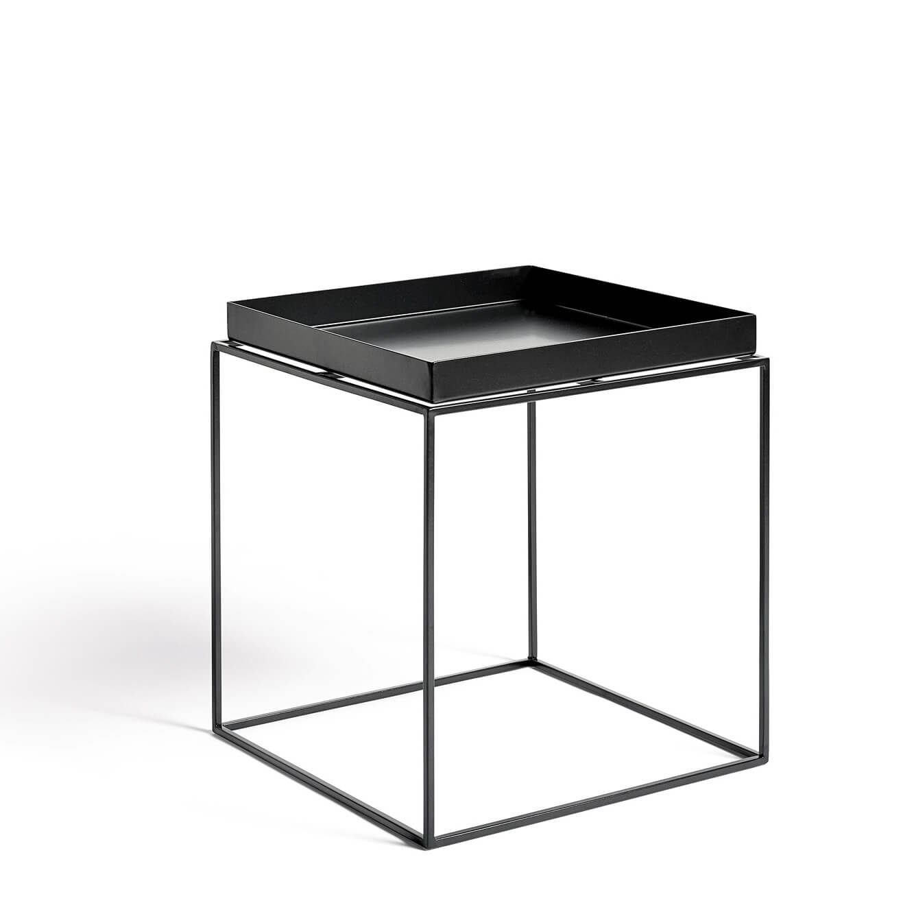 hay tray table beistelltisch schwarz 40 x 40 cm. Black Bedroom Furniture Sets. Home Design Ideas