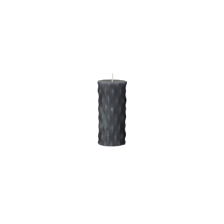 Broste Copenhagen – Stumpenkerze Grau M – Rhomb NO 3