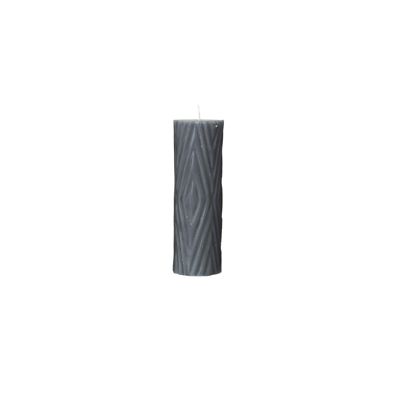 Broste Copenhagen – Stumpenkerze Grau – Rhomb NO 4