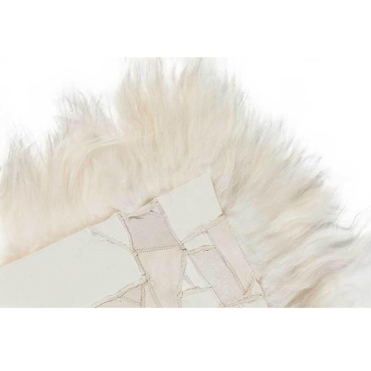 DYRESKINN – Sitzkissen Isländisches Schaffell – Weiß