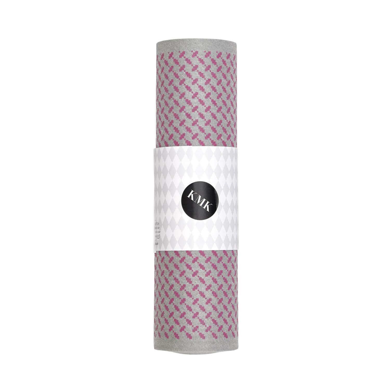 Kiss my Kitchen – Schwammtuch-Rolle – Muster Rosa-Grau