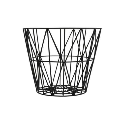 Ferm LIVING – Korb Metall – Schwarz – M