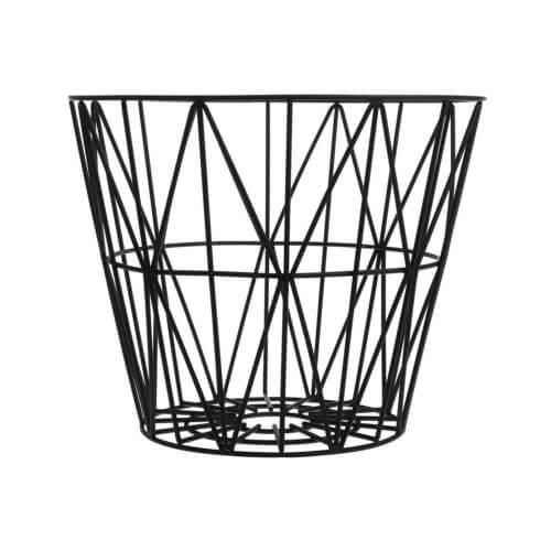 ferm Metall-Korb Wire Schwarz L