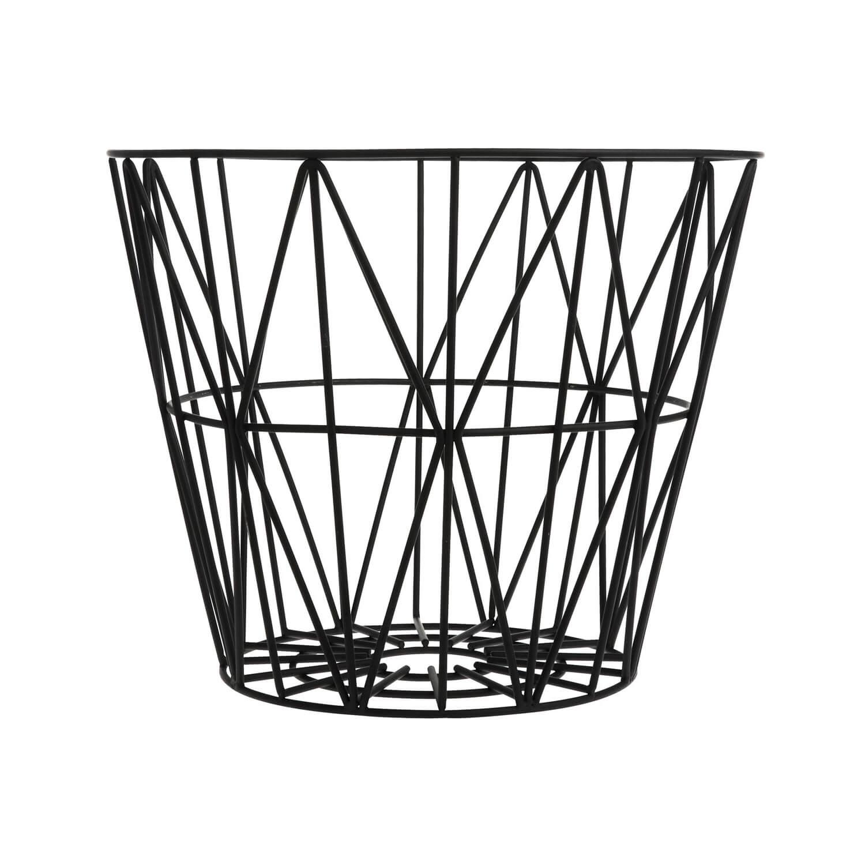 Ferm LIVING – Korb Metall – Schwarz – L