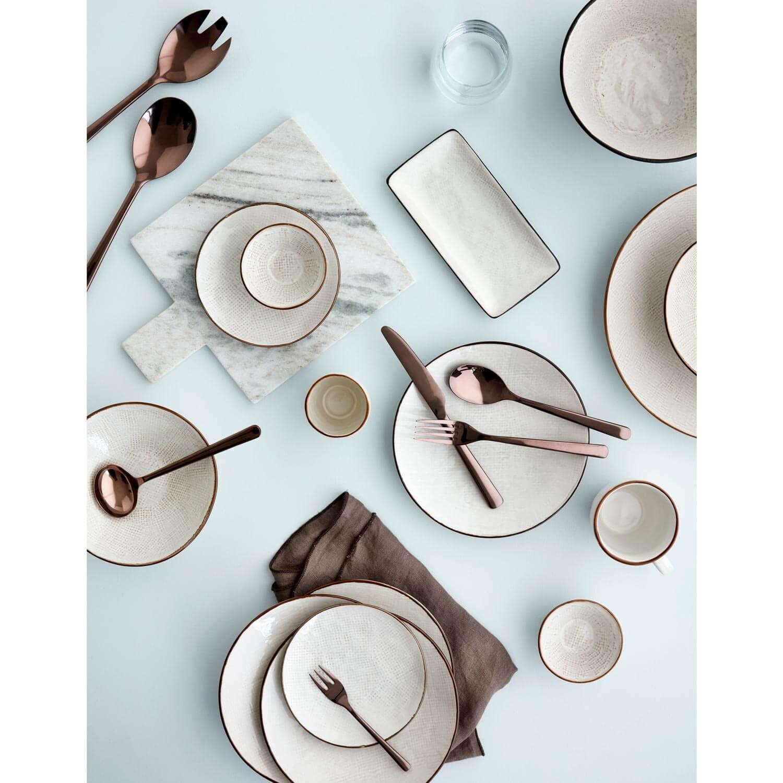 Broste Copenhagen – 20er Set Salatbesteck HUNE Titanium – Espresso