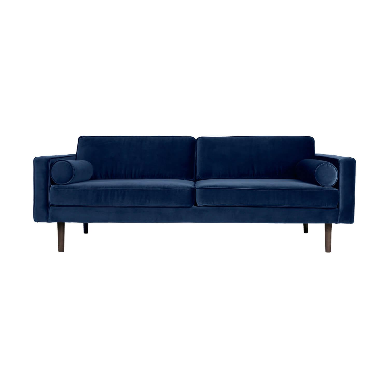 Broste Copenhagen – Sofa WIND – Samt Blau