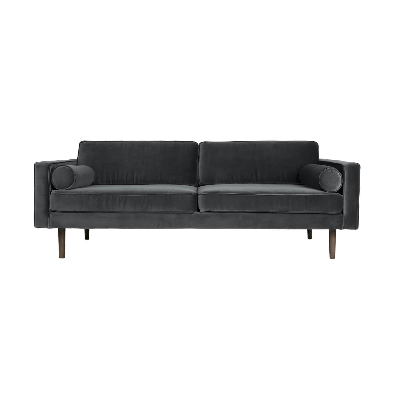 Broste Copenhagen – Sofa WIND – Samt Dunkelgrau