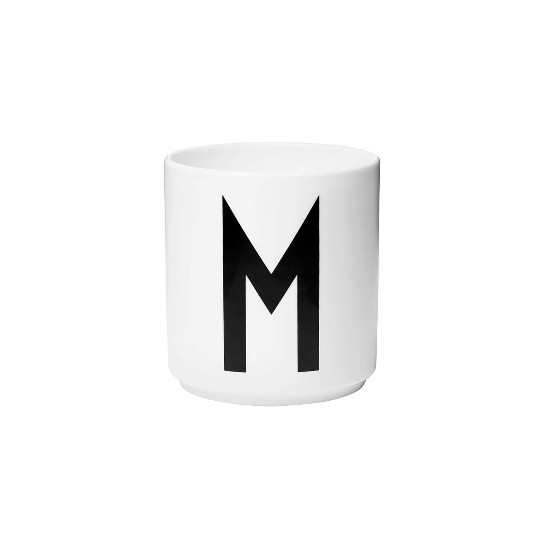 design letters porzellan becher m wei ca 8 x h 9 cm. Black Bedroom Furniture Sets. Home Design Ideas