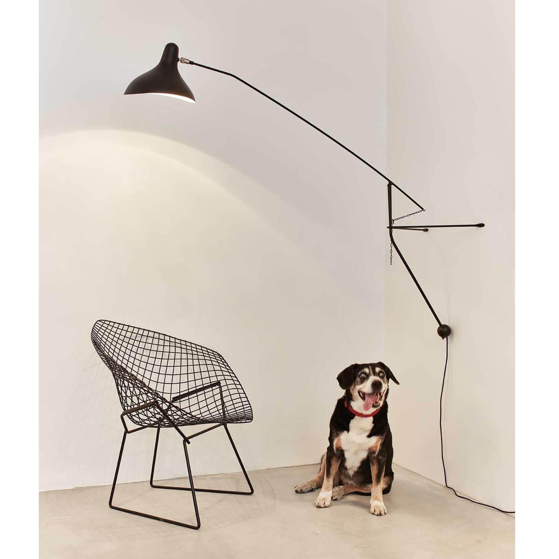 dcw mantis bs2 wandleuchte schwarz satiniert. Black Bedroom Furniture Sets. Home Design Ideas