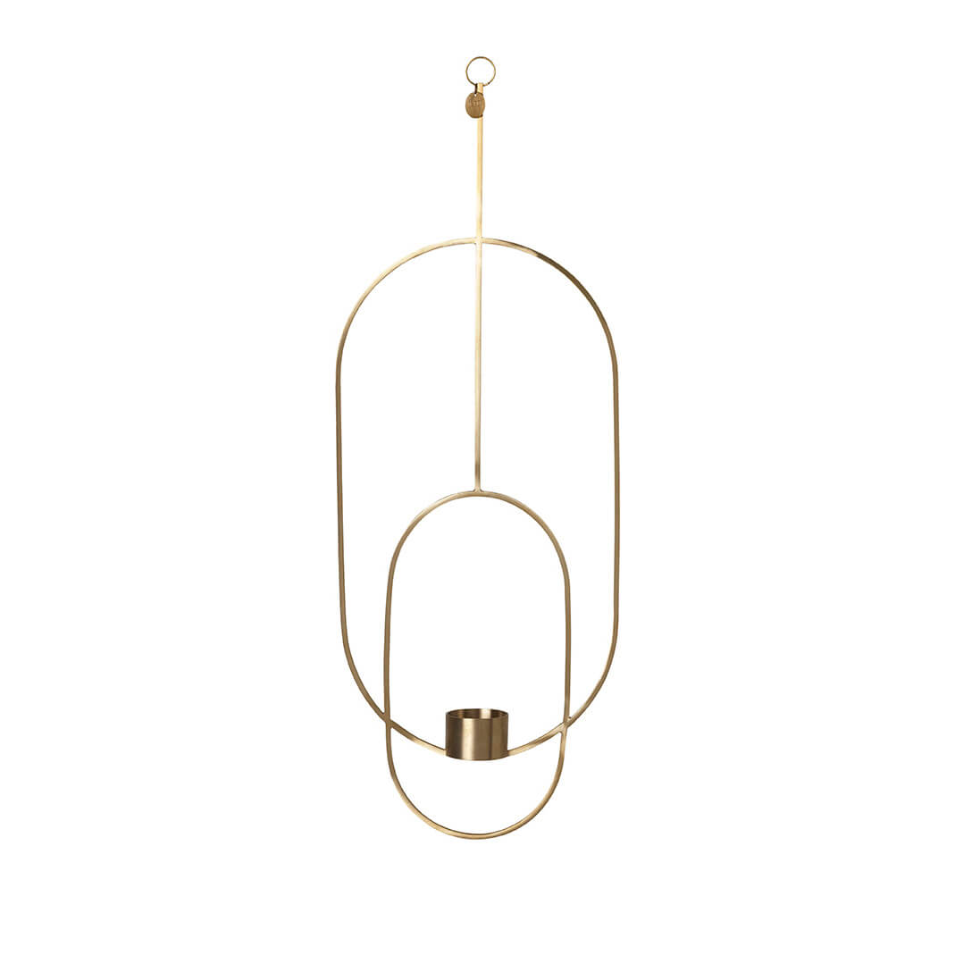 ferm living teelichthalter oval messing ca b30 x h45 x t4 5 cm. Black Bedroom Furniture Sets. Home Design Ideas