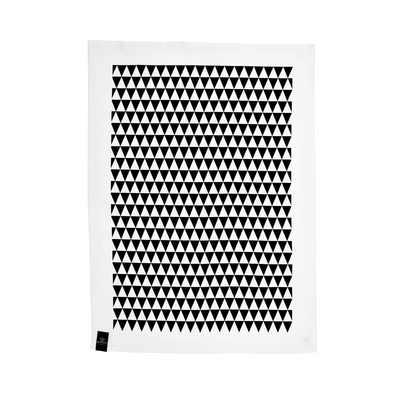 KMK Geschirrtuch Dreieck Schwarz-Weiß