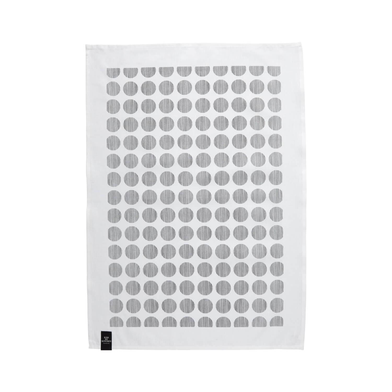 KMK Geschirrtuch Punkte Schwarz-Weiß