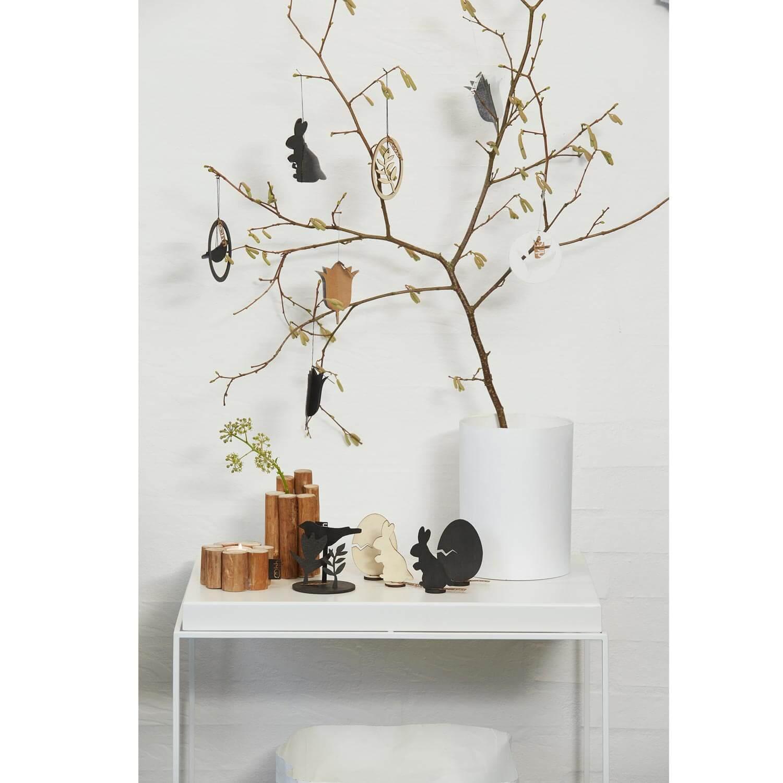 oohh kollektion 6er set h ngende deko wei ca 9 cm. Black Bedroom Furniture Sets. Home Design Ideas