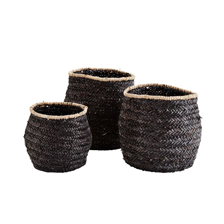 korb schwarz stora korb schwarz weiss grn h x b x t. Black Bedroom Furniture Sets. Home Design Ideas