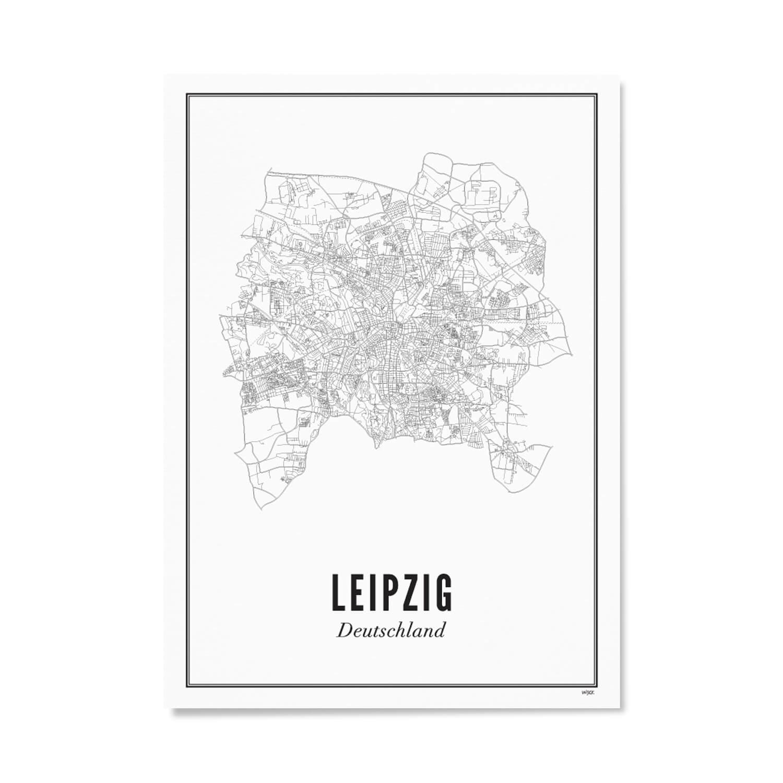 Print –Stadtplan Leipzig