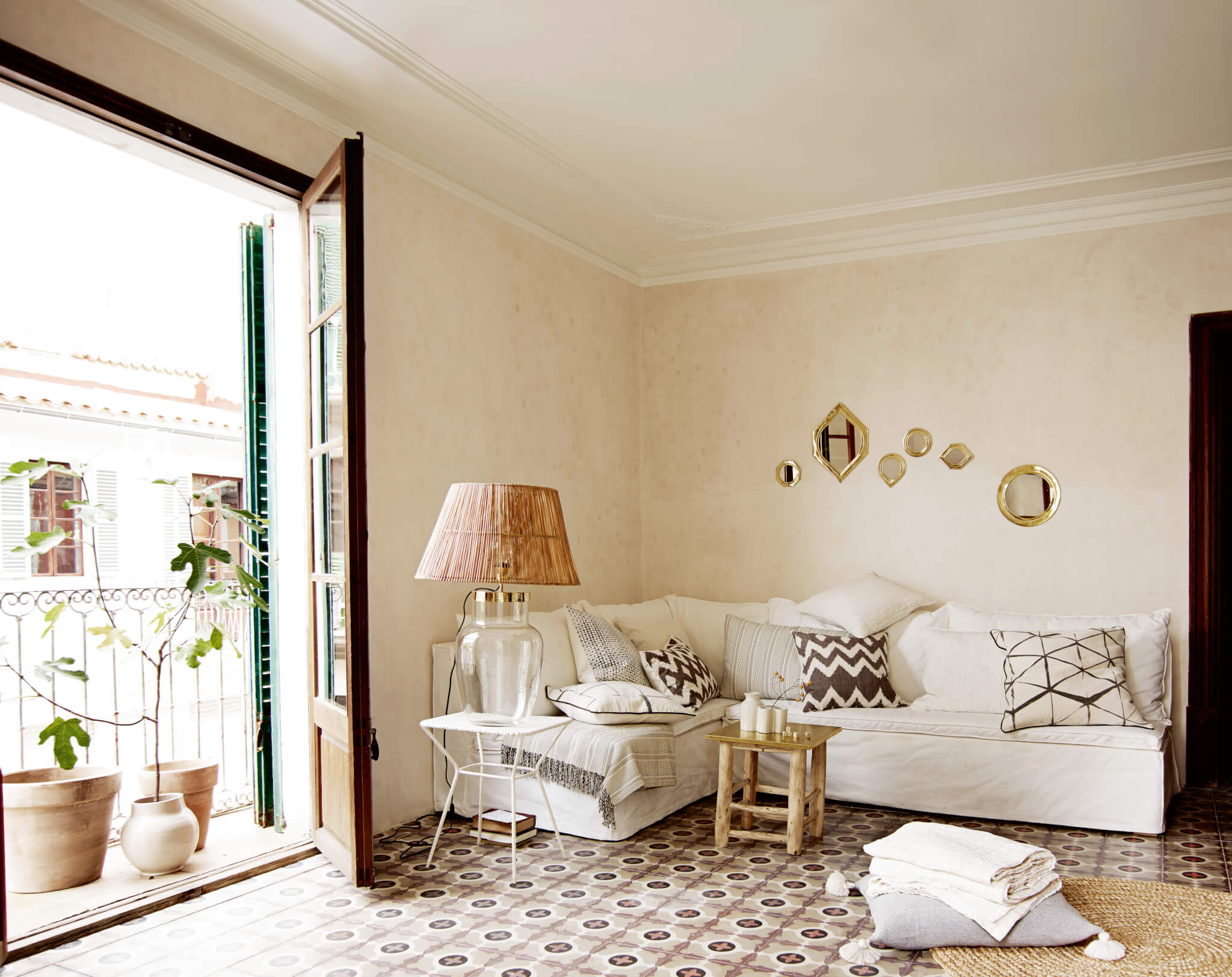 tine k home kissen muster grau wei inkl inlet ca 40. Black Bedroom Furniture Sets. Home Design Ideas