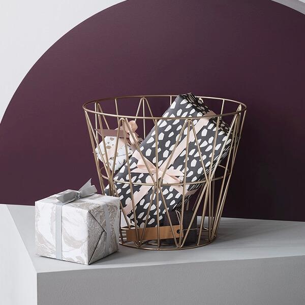 ferm living korb metall schwarz m 50 x h 40 cm. Black Bedroom Furniture Sets. Home Design Ideas