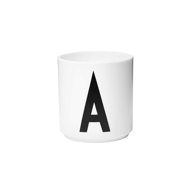 design letters porzellan becher a wei ca 8 x h 9 cm. Black Bedroom Furniture Sets. Home Design Ideas