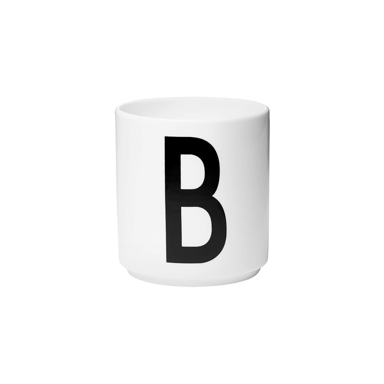 DesignLetters Porzellan-Becher B Weiß