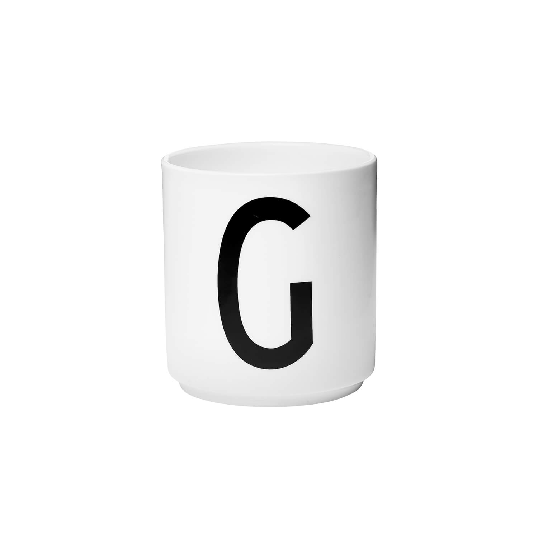design letters porzellan becher g wei ca 8 x h 9 cm. Black Bedroom Furniture Sets. Home Design Ideas