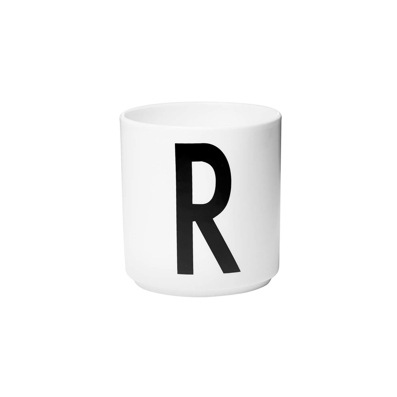 design letters porzellan becher r wei ca 8 x h 9 cm. Black Bedroom Furniture Sets. Home Design Ideas
