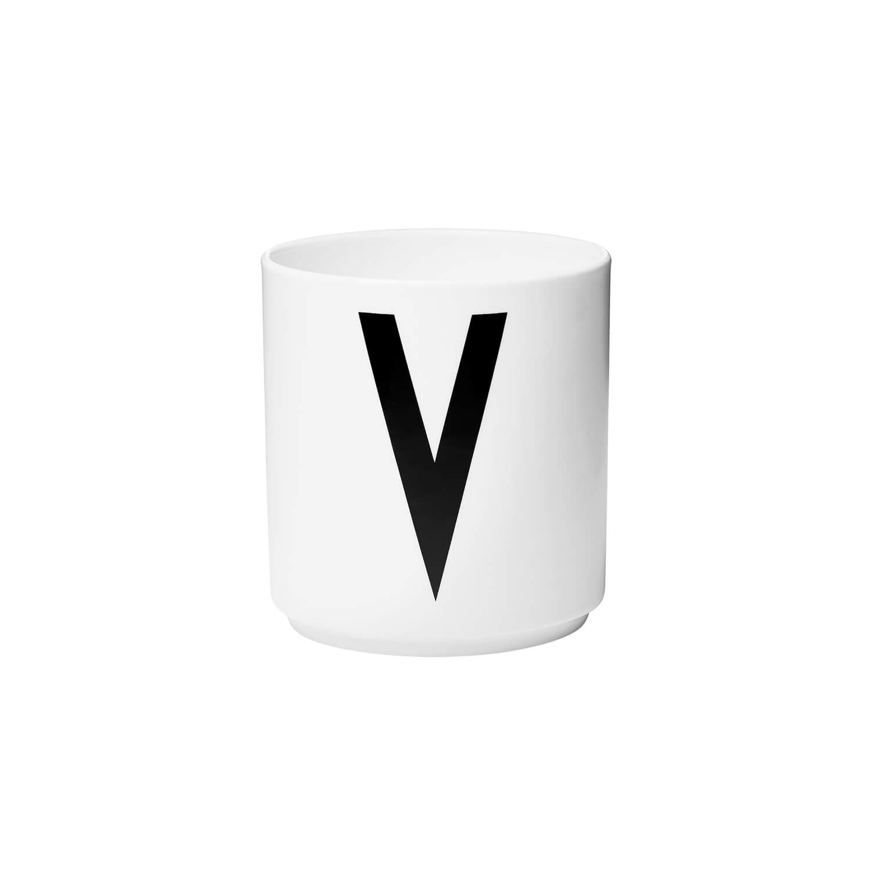 design letters porzellan becher v wei ca 8 x h 9 cm. Black Bedroom Furniture Sets. Home Design Ideas
