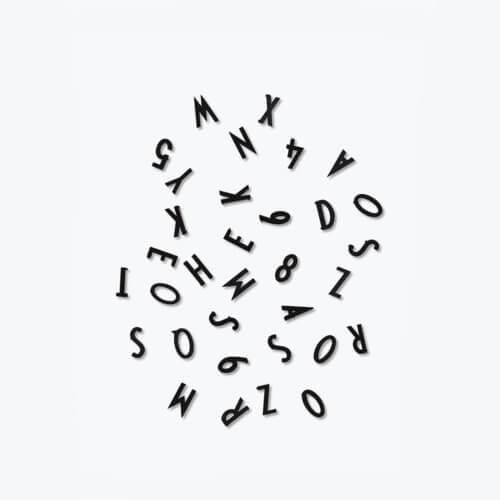 Design Letters – Buchstaben-Set Message Board – Schwarz
