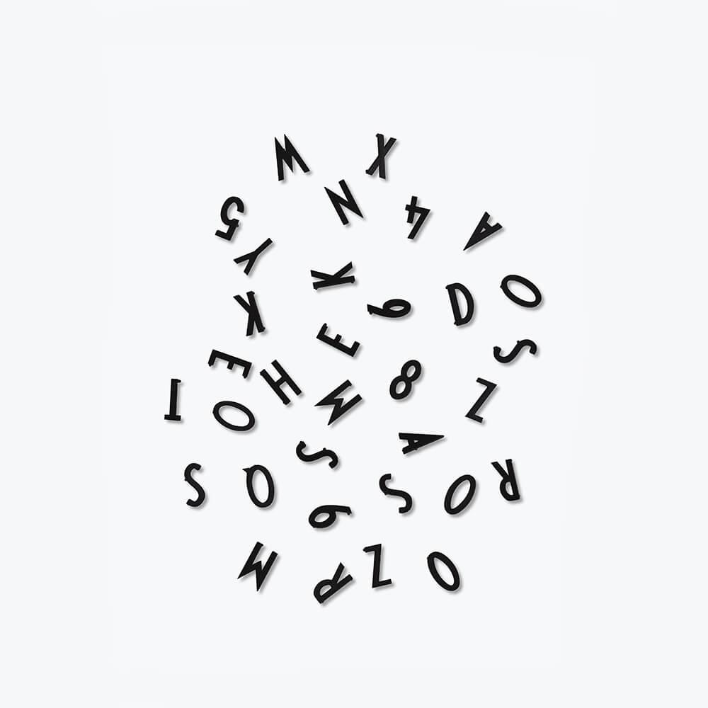 DesignLetters Buchstaben-Set S Schwarz