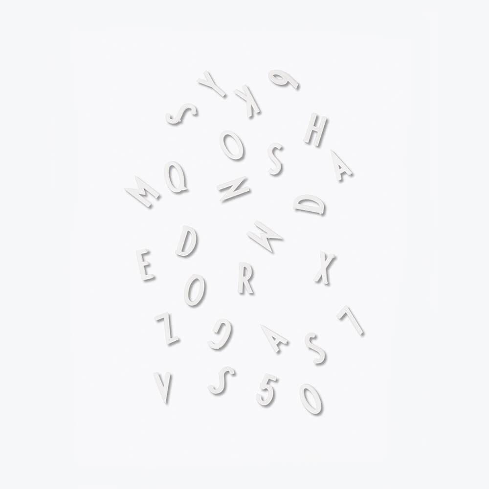 DesignLetters Buchstaben-Set S Weiß