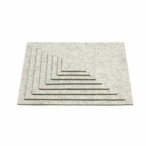 HEY Sign – Untersetzer Filz – Grau / Marmor