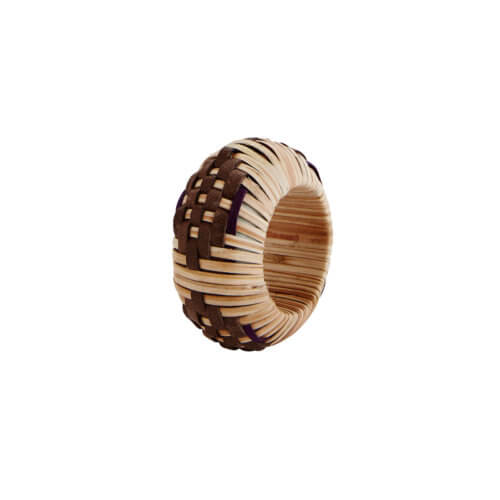 Madam Stoltz – Servietten-Ring – Bambus Natur