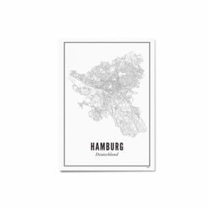 Print –Stadtplan Hamburg