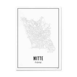 Print –Stadtplan Leipzig Mitte