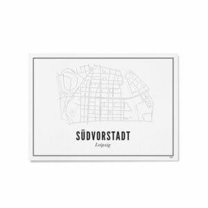 Print –Stadtplan Leipzig Südvorstadt