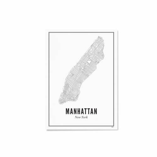 Print – Stadtplan New York Manhattan