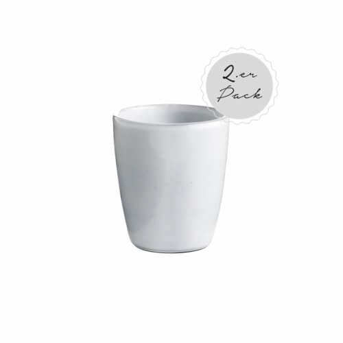 Tine K Home – Geschirr DELI 2er Set Becher – Weiß