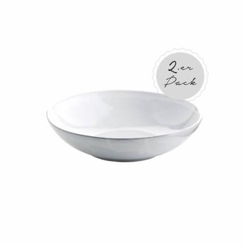 Tine K Home – Geschirr DELI 2er Set Schalen – Weiß