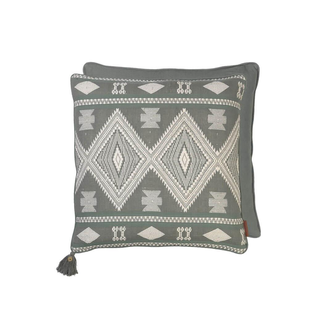cozy living copenhagen kissen safari jacquard kale gr n. Black Bedroom Furniture Sets. Home Design Ideas